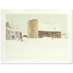 "William Nelson, ""Blizzard"" Limited Edition Serigraph, Numbered and Hand Signed by the Artist."