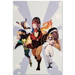 "Marvel Comics ""Iron Age: Omega #1"" Numbered Limited Edition Giclee on Canvas by Ariel Olivetti with"
