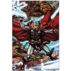 "Marvel Comics ""Thor: Heaven and Earth #3"" Numbered Limited Edition Giclee on Canvas by Pascal Alixe"