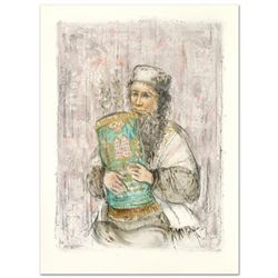 """Israeli Rabbi"" Limited Edition Lithograph by Edna Hibel, Numbered and Hand Signed with Certificate"