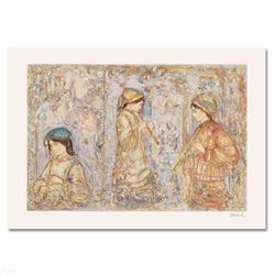 """Music in the Garden"" Limited Edition Serigraph by Edna Hibel (1917-2014), Numbered and Hand Signed"
