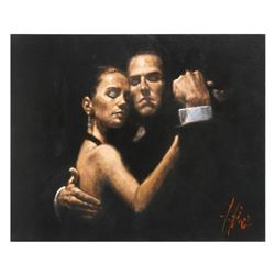 """Fabian Perez, """"Face Of Tango II"""" Hand Textured Limited Edition Giclee on Board. Hand Signed and Numb"""