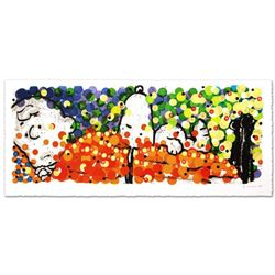 """""""Pillow Talk"""" Limited Edition Hand Pulled Original Lithograph (53"""" x 20.5"""") by Renowned Charles Schu"""