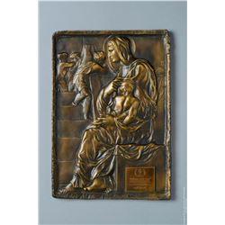 "Michelangelo Madonna of the Steps ""Madonna della Scala"" Lost Wax Bronze Sculpture"