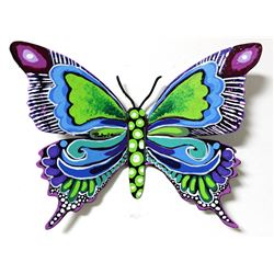 "Patricia Govezensky- Original Painting on Cutout Steel ""Butterfly CLXXV"""