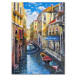 """Anatoly Metlan, """"Venice"""" Limited Edition Lithograph, Numbered and Hand Signed with Certificate of Au"""