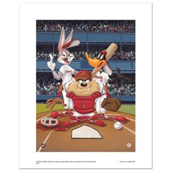 """""""At the Plate (Diamondbacks)"""" Numbered Limited Edition Giclee from Warner Bros. with Certificate of"""