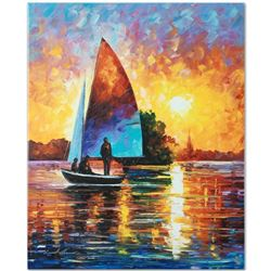 """Leonid Afremov """"Bonding"""" Limited Edition Giclee on Canvas, Numbered and Signed; Certificate of Authe"""