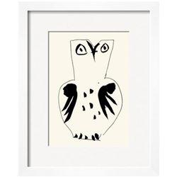 """Pablo Picasso """"Owl"""" Custom Framed Serigraph"""