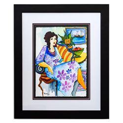 """Patricia Govezensky- Original Watercolor """"Mathilde"""""""