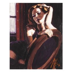 """Fabian Perez, """"Laura"""" Hand Textured Limited Edition Giclee on Board. Hand Signed and Numbered."""