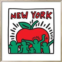 "Keith Haring ""Untitled Pop Art - New York"" Custom Framed"