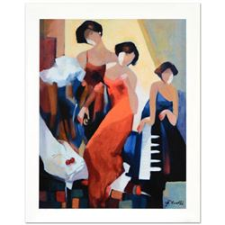 """""""Musical Trio"""" Limited Edition Giclee on Canvas by Yunessi Gholam, Numbered Inverso and Hand Signed"""