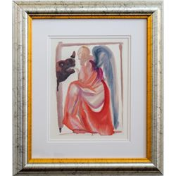 """Salvador Dali- Original Color Woodcut on B.F.K. Rives Paper """"Heaven Canto 6"""""""