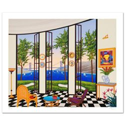 """""""Black and White Interior"""" Limited Edition Serigraph by Fanch Ledan, Numbered and Hand Signed with C"""