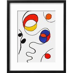 "Alexander Calder ""Derrier le Mirroir, no. 173: Composition II"" Custom Framed Lithograph"