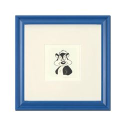 """""""Pepe Le Pew"""" Framed Limited Edition Etching with Hand-Tinted Color and Numbered."""