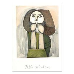 """Pablo Picasso (1881-1973), """"Portrait De Femme A La Robe Verte"""" Original Lithograph, Limited to 1000"""