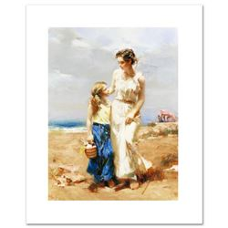 """By the Sea"" Limited Edition Artist-Embellished Giclee on Canvas by Pino (1939-2010). AP Numbered an"