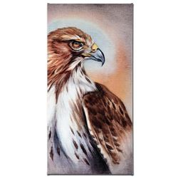"""American Redtail Hawk"" Limited Edition Giclee Gallery Wrapped Canvas on Canvas by Martin Katon, Num"