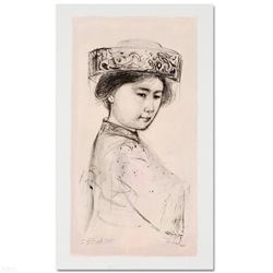 """Yasmin"" Limited Edition Lithograph by Edna Hibel (1917-2014), Numbered and Hand Signed with Certifi"