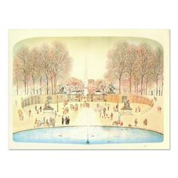 "Rolf Rafflewski, ""Park II"" Limited Edition Lithograph, Numbered and Hand Signed."