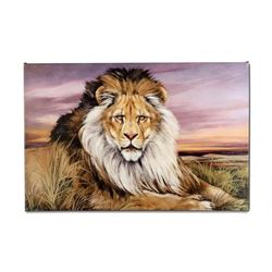 """African Lion"" Limited Edition Giclee on Canvas by Martin Katon, Numbered and Hand Signed with COA."