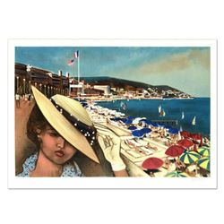 """Robert Vernet Bonfort, """"Cannes"""" Limited Edition Lithograph, Numbered and Hand Signed."""