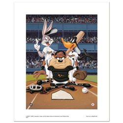 """""""At the Plate (Orioles)"""" Numbered Limited Edition Giclee from Warner Bros. with Certificate of Authe"""