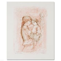 """""""Nicole with Baby"""" Limited Edition Lithograph by Edna Hibel (1917-2014), Numbered and Hand Signed wi"""
