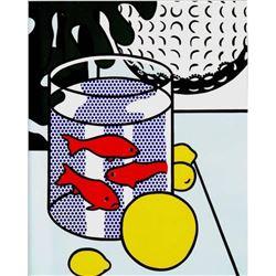 "Roy Lichtenstein- Offset Lithograph ""Still Life with Goldfish Bowl"""