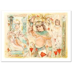"""""""Aida"""" Limited Edition Lithograph (38"""" x 27"""") by Edna Hibel (1917-2014), Numbered and Hand Signed wi"""