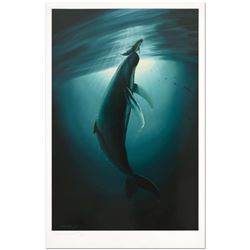 """Wyland, """"The First Breath"""" Limited Edition Lithograph, Numbered and Hand Signed with Certificate of"""