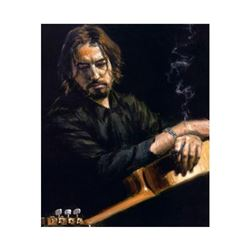 """Fabian Perez, """"VIctor Torres"""" Hand Textured Limited Edition Giclee on Board. Hand Signed and Numbere"""