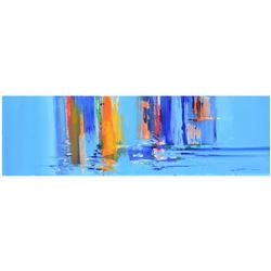 """Roberto Donatelli, """"Reflections"""" Original Oil Painting on Canvas, Titled Inverso and Hand Signed wit"""