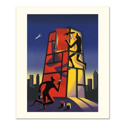 """Mark Kostabi, """"Panic In The Minefield"""" Limited Edition Serigraph, Numbered and Hand Signed with Cert"""