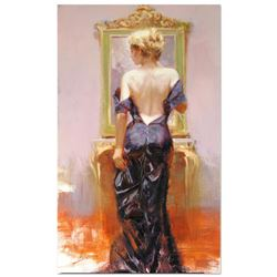 """Pino (1939-2010), """"Evening Elegance"""" Artist Embellished Limited Edition on Canvas (24"""" x 40""""), AP Nu"""