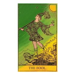 """Steve Kaufman (1960-2010) """"Tarot, The Fool"""" One of a kind Hand Painted Silkscreen on Canvas Numbered"""