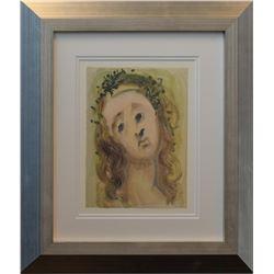 "Salvador Dali- Original Color Woodcut on B.F.K. Rives Paper ""Purgatory Canto 10"""