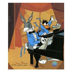 """Chuck Jones """"Bugs And Daffy: In Concert"""" Hand Signed, Hand Painted Limited Edition Sericel."""