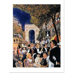 """Guy Buffet, """"Champs Elysees"""" Limited Edition Serigraph; Numbered and Hand Signed with Certificate of"""