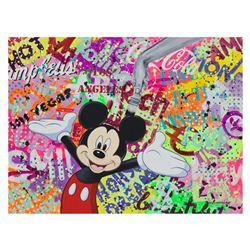 "Nastya Rovenskaya- Original Oil on Canvas ""Party with Mickey"""