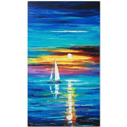 """Leonid Afremov """"Reflection"""" Limited Edition Giclee on Canvas, Numbered and Signed; Certificate of Au"""