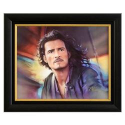 """John Alvin (1948-2008), """"Will Turner"""" Framed Limited Edition Giclee on Canvas, Licensed by Disney Fi"""