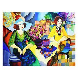 """Patricia Govezensky- Original Watercolor """"A Friend from England"""""""