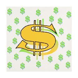"""Steve Kaufman (1960-2010), """"Dollar Sign State 3"""" Limited Edition Silkscreen on Canvas, Numbered 15/5"""