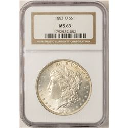 1882-O $1 Morgan Silver Dollar Coin NGC MS63
