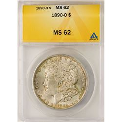 1890-O $1 Morgan Silver Dollar Coin ANACS MS62