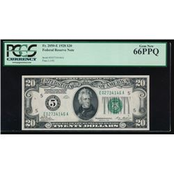 1928 $20 Richmond Federal Reserve Note PCGS 66PPQ