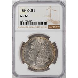 1884-O $1 Morgan Silver Dollar Coin NGC MS63